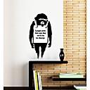 zidne naljepnice zidne naljepnice, moderni Banksy poruka odbora PVC zidne naljepnice.