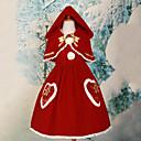 Úbory Sweet Lolita Lolita Cosplay Lolita šaty Červená Jednobarevné Bez rukávů Medium Length Šaty / Šátek Pro Dámské Koženka / Polyester