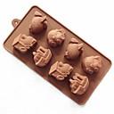 8穴車両形状のケーキ型の氷のゼリーチョコレートモールド、シリコーン23×12×2.5センチメートル(9×4.7×1インチ)
