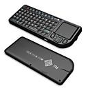RI mini v3 2,4 g wireless keyborad s / touchpad / laserski pokazivač / pozadinskim osvjetljenjem - crna