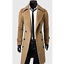 Moda muških muške rever ovratnik dvostruko dojke kaput