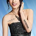 Tetovaže naljepnice - Others - za Žene/Girl/Odrasla osoba/Boy - Uzorak - #(20.5CM*10CM) - Uzorak/Waterproof - #(5) kom. - (  Crna - Papir