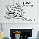 samolepky na zeď na stěnu, káva anglická slova&cituje pvc samolepky na zeď