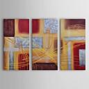 Ručno oslikana Sažetak Tri plohe Platno Hang oslikana uljanim bojama For Početna Dekoracija
