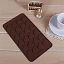 24. hole tvaru srdce bábovka led želé Formičky na čokoládu, silikon 21 × 11,5 × 0,8 cm (8,3 x 4,6 x 0,4 palce)