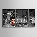 E-home® pruži platnu umjetnosti gradska ulica ukras slikanje set od 5