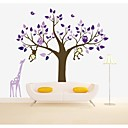 samolepky na zeď na stěnu, velký strom se žirafa pvc zeď samolepky