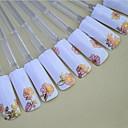 ミックスホットピンクの背景黄金のネイルステッカーネイルアートネイル装飾の24PCS