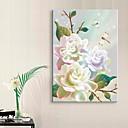 e-HOME® roztažený vedl na plátně umění květina blesku efekt blikání optického vlákna tisk