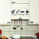 壁のステッカー壁のステッカーは、調理時間PVCウォールステッカーを楽しむ