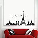 Romantična pvc Eiffelov toranj zidne naljepnice