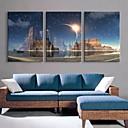 e-HOME® protáhl vedené na plátně umění svíčka blesk efekt LED bliká optické vlákno tiskovou sadu 3