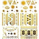 Tetovaže naljepnice - Nakit serije - za Žene/Girl/Odrasla osoba/Boy - Uzorak - #(15x11.5) - Uzorak - #(15) kom. - (  Zlatna - Papir )