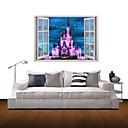 3D壁のステッカー壁のステッカー、紫色の城の装飾のビニールウォールステッカー