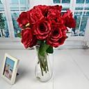 """Europski stil bijelo crvena roza umjetno otvorena ruža 2 komada / dosta 15.75 """"kljun za vjenčanje ukras"""