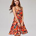 女性の幾何学的なプラスは、ストラップのドレスのサイズ™sanfenzise