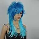 Ženska izvrsna plava mješoviti ravno dugo Cosplay perika