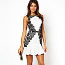 ysminew European Fashion temperament slim šaty bez rukávů