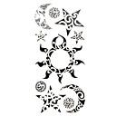 1ks nové elegantní nepromokavé dočasné tetování zápěstí / krk / rameno / noha tetování slunce měsíc hvězdy těla tetování (18,5 cm * 8,5 cm)