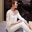 WOMEN - セクシー - Tシャツ ( シフォン ラウンド - 長袖