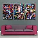 電子home®は3のキャンバスアート抽象的なパターン装飾塗装セットを伸ばし
