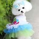 Psi Haljine Plav / Narančasta Odjeća za psa Ljeto Hearts