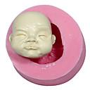 Silikonski kalup za lutke lice sugarcraft kolač ukrašavanja Fondant fimo plijesni