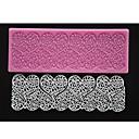četiri-c reljefni silikonska mat srce čipka plijesni Fondant torta dekor jastuk boja roza