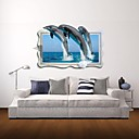 3D zidne naljepnice zidne naljepnice, dupini dekor vinil zidne naljepnice