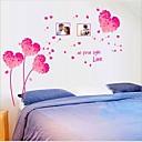 izmjenjivi romantična ružičasta ljubavi srce spavaća / dnevna soba zid naljepnice