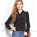 Mina dámské módy košile s dlouhým rukávem