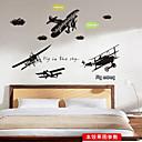 samolepky na zeď na stěnu, letadlo PVC samolepky na zeď