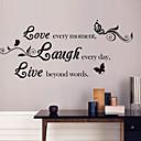 zidne naljepnice zidne naljepnice, stil ljubav&smijeh&živjeti engleskih riječi&citati PVC zidne naljepnice