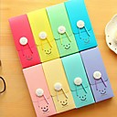 弾性コードランダムな色とキュートな笑顔のプラスチック製の筆箱