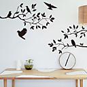 samolepky na zeď na stěnu, styl stromu větev pták pvc samolepky na zeď