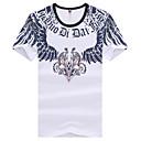 MEN Tシャツ ( オーガニックコットン ) カジュアル ラウンド - 半袖