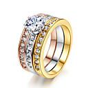Prstenje Moda Vjenčanje / Party Jewelry Legura Žene Prstenje sa stavom 1pc,Univerzalna veličina Srebrna