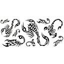 1ks móda nepromokavé dočasné tetování zpět / zápěstí / krk tetování malý ještěr těla tetování (24 * 10 cm)