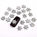 10ks šedá stříbrná nail art šperky punková chromované srdce aryclic nehtové tipy dekorace nail art se třpytí na nehty