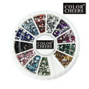 2000PCS 12-Color 1.5mm Kružni Diamond Nail Art Dekoracije
