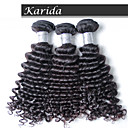 3 ks / lot panna peruánský hluboká vlna vlasy, vlasy tkát velkoobchod panna peruánský vlasy