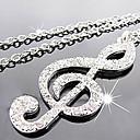 Novi dolazak fashional popularni delikatna visoke kvalitete vještački dijamant napomena ogrlica