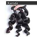 3 ks / lot levné malajského vlasy tkaní, malajské vlasy tkát volně kudrnaté
