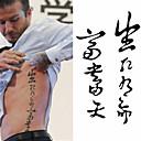 タトゥーステッカー - Non Toxic/腰/Waterproof - 子供用/女性/男性/大人/青少年 - 紙 - 6*10.5cm (2.36*4.13in) - パターン - 1 個