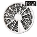 3600PCS kamínky Silver akrylové Nail Art Dekorace (2mm)