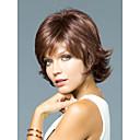 Vysoká kvalita bez krytky krátkými kudrnatými mono top lidský vlas paruky 12 barev na výběr