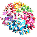 3d pvc šarene simulacije leptir zidne naljepnice 12pcs / set