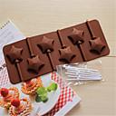 bakeware obliku silikon zvijezda pečenje kalupi za čokoladom lizalica
