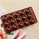 bakeware silikon vrtlog u obliku pečenje kalupi za čokoladu