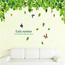 zid naljepnice zid naljepnice stil zeleno lišće i čiste i svježe PVC zidne naljepnice